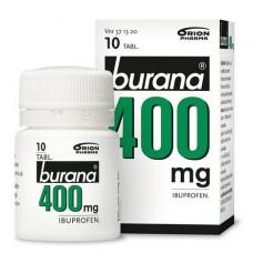 BURANA 400 mg 10 tablettia, purkki