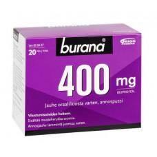BURANA 400 mg jauhe oraaliliuosta varten 20 annosjauhetta