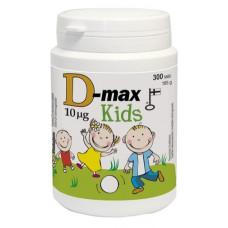 D-Max Kids 10 мкг, жевательная таблетка со вкусом груши 300 табл