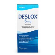 DESLOX 5 mg tabl, kalvopääll 10 fol