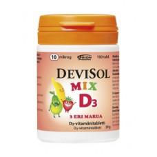 Витамин Д3 в жевательных таблетках DeviSol Mix D3 10 mkg, 100 шт.