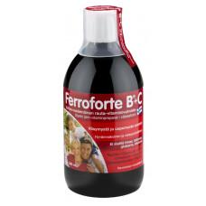 Ferroforte B + C - Vahva nestemäinen rauta-vitamiinivalmiste 500 ml