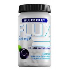 Flux Blueberry fluoritabletti 100 imeskelytabl
