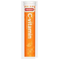 Витамин С Friggs 1000mg C-vitamiini, 20 шипучих таблеток вкус апельсин