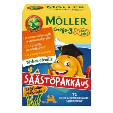 Möller Omega-3 Pikkukalat Hedelmänmakuinen 72 kpl
