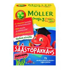 Möller Omega-3 Pikkukalat Vadelmainen 72 kpl