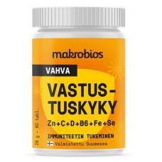 Makrobios Vahva Vastustuskyky Zn + C + D + B6 + Fe + Se 60 tabl.