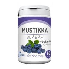 Via Naturale Mustikka+C-vitamiini 60 tabl. ravintolisä