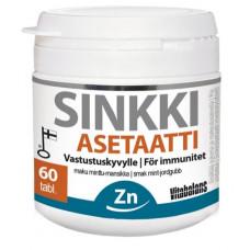 Ацетат цинка для имунной системы со вкусом мяты-клубники 60 таб.