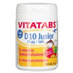 Vitatabs D10 Junior mansikka 100 tabl