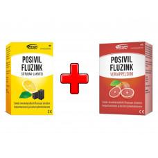 Набор POSIVIL FLUZINK грейп+цитрус и лакрица 2х40 TABL